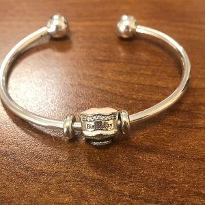 Brand New Pandora Bracelet with Birthday Charm